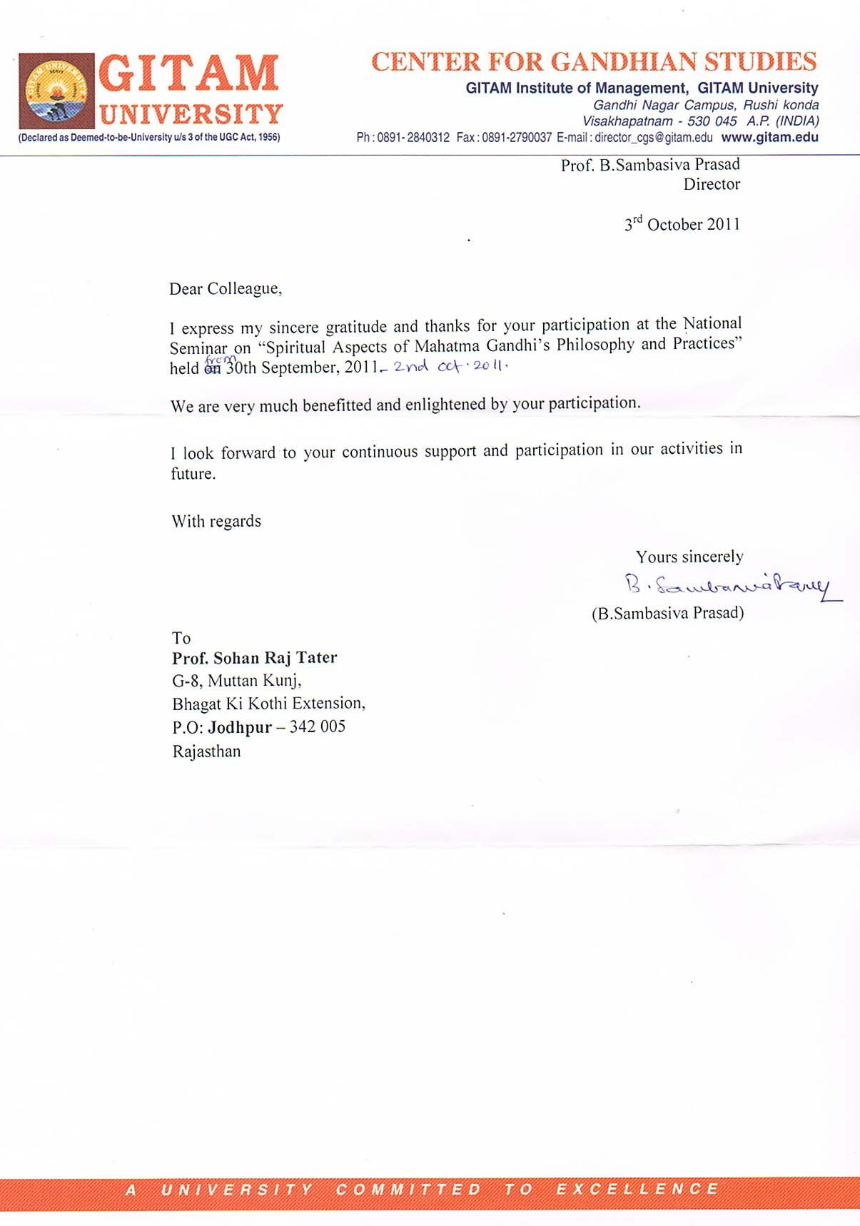 Profdr sohan raj tater e knowledge museum gitam seminar certificate click here stopboris Image collections
